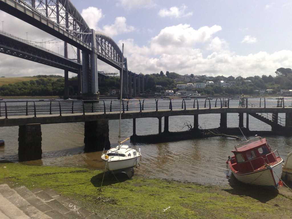 Waterfront Shot of Tamar Bridges